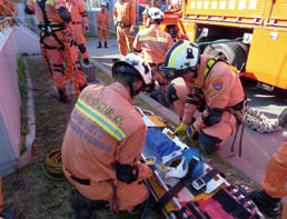 The rescue team flies to Tokyo for Comprehensive Disaster Training and Maneuvers.